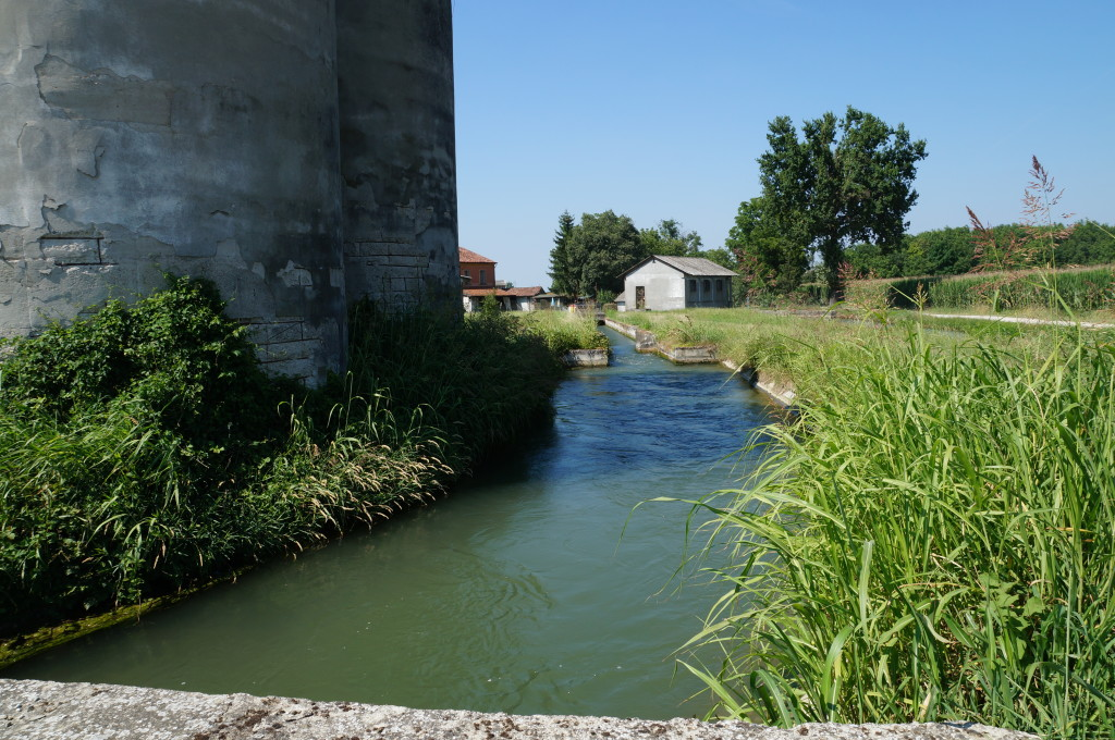 An irrigation water channel in Italy.