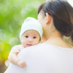 3 months baby with her mother in the garden; Shutterstock ID 244107268; PO: 16-MONPA-00492; Job: Iron Rich Diet; Other: Rachel Parr